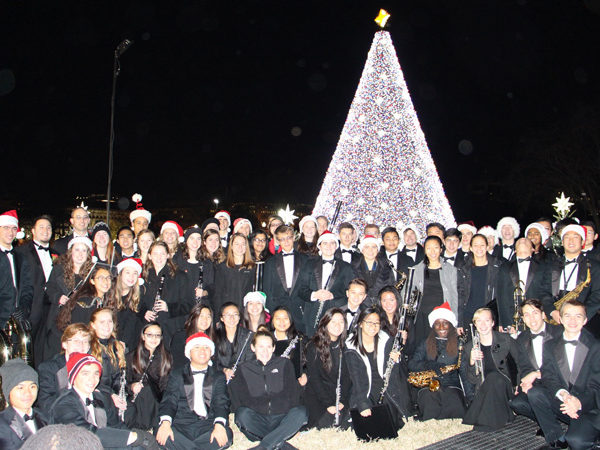 Symphonic Band at the National Tree